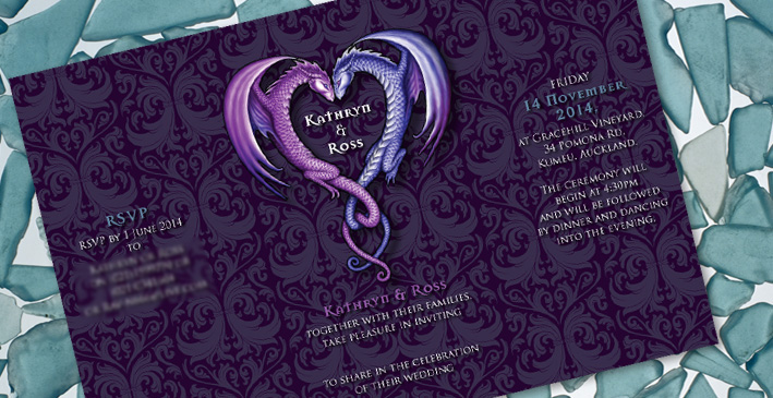Kathryn & Ross's Dragon Wedding Invitation
